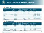 solar thermal without storage