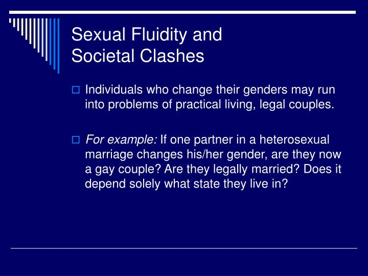 Sexual Fluidity and
