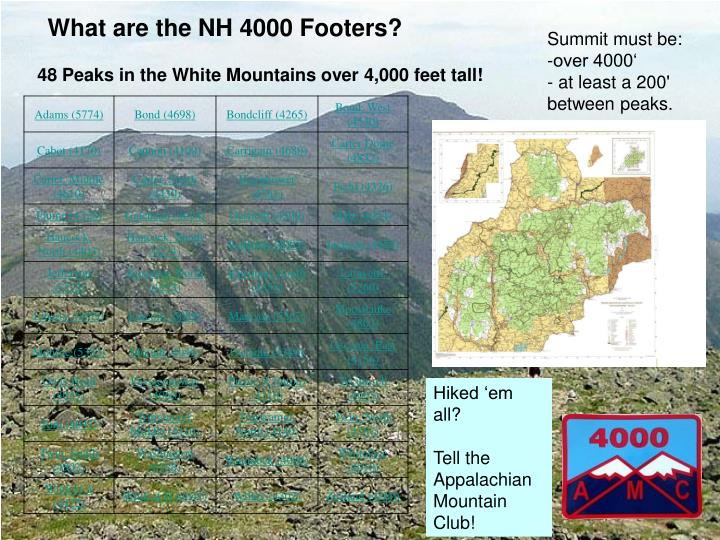 What are the nh 4000 footers