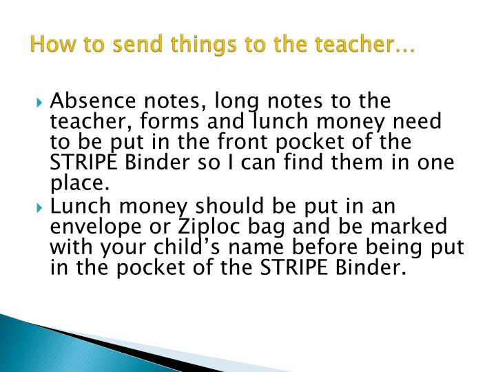 How to send things to the teacher…