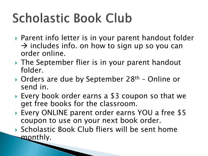 Scholastic Book Club