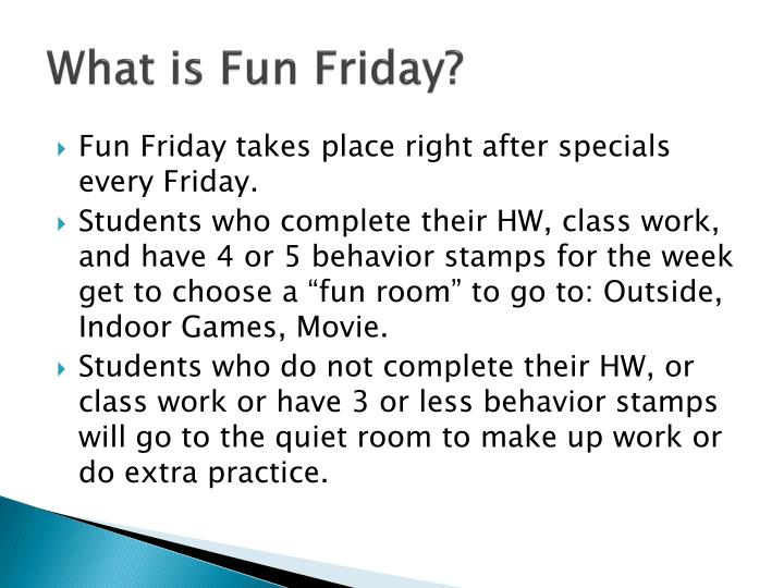 What is Fun Friday?