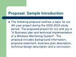 proposal sample introduction