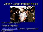 jimmy carter foreign policy