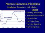nixon s economic problems