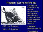 reagan economic policy