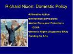 richard nixon domestic policy