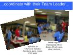 coordinate with their team leader