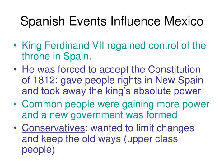 Spanish Events Influence Mexico