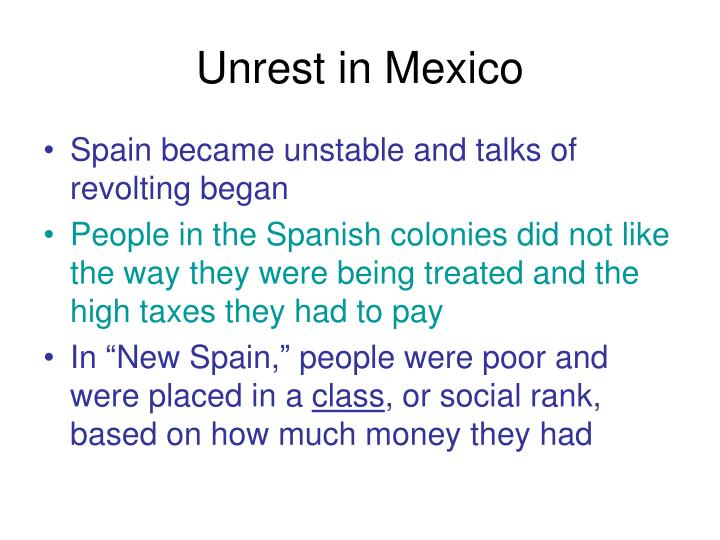 Unrest in Mexico
