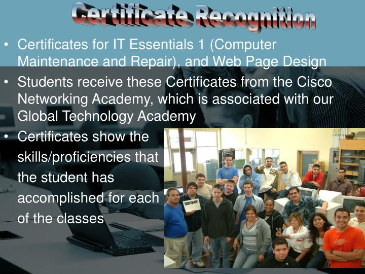 Certificate Recognition