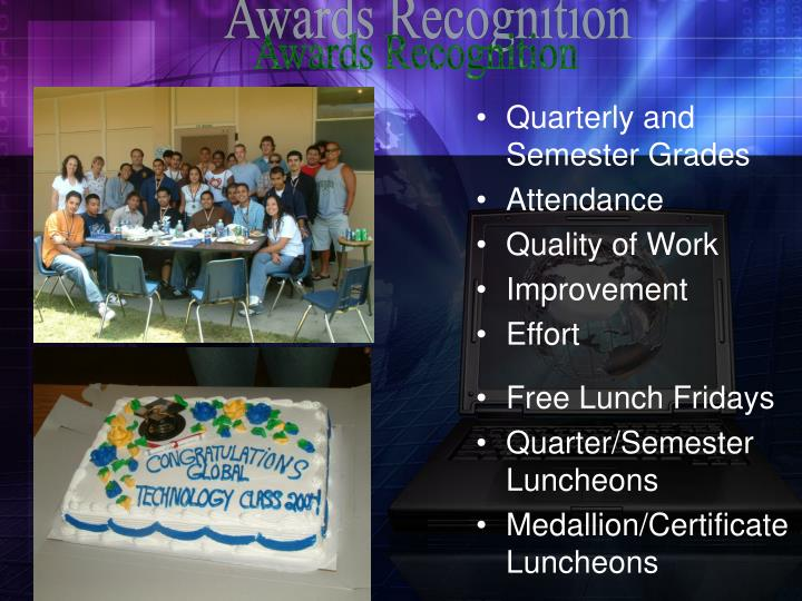 Awards Recognition