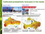 calibrated probabilistic forecasts in the media