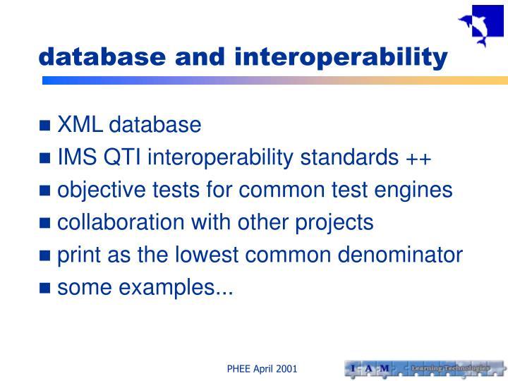 database and interoperability