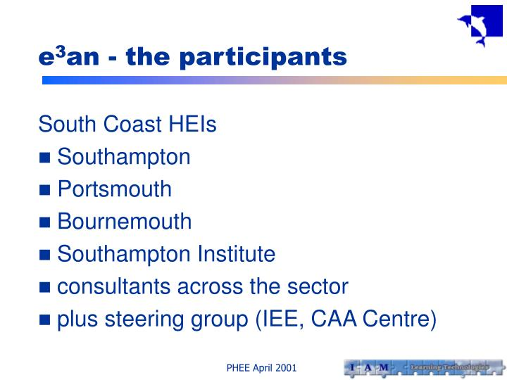 E 3 an the participants