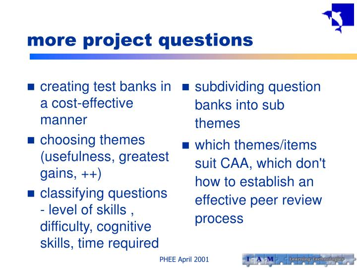 creating test banks in a cost-effective manner