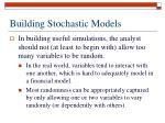 building stochastic models