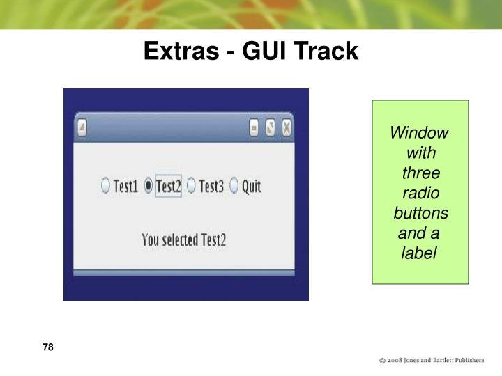 Extras - GUI Track