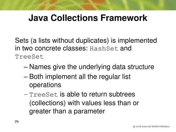 Java Collections Framework