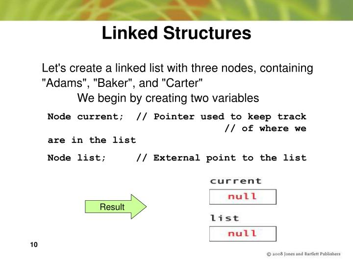 Linked Structures