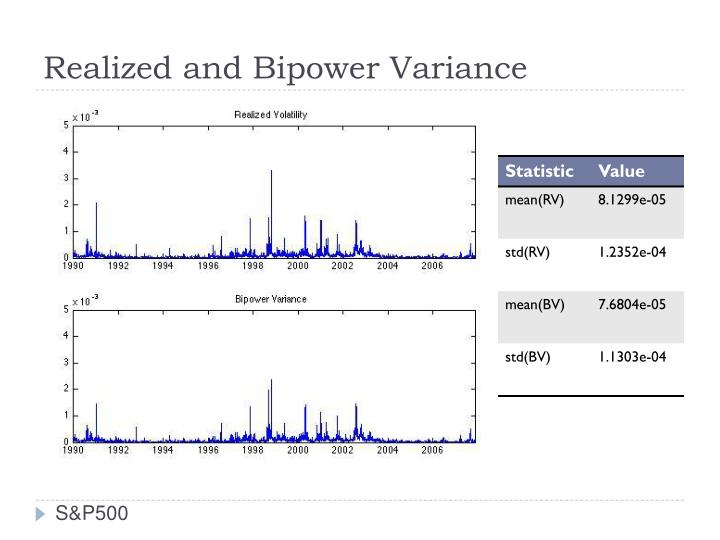 Realized and Bipower Variance