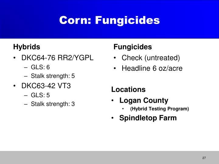 Corn: Fungicides