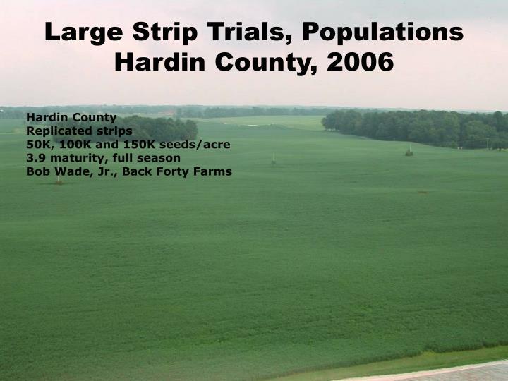 Large Strip Trials, Populations