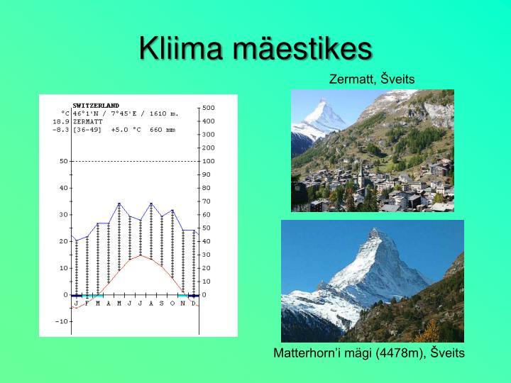 Kliima mäestikes