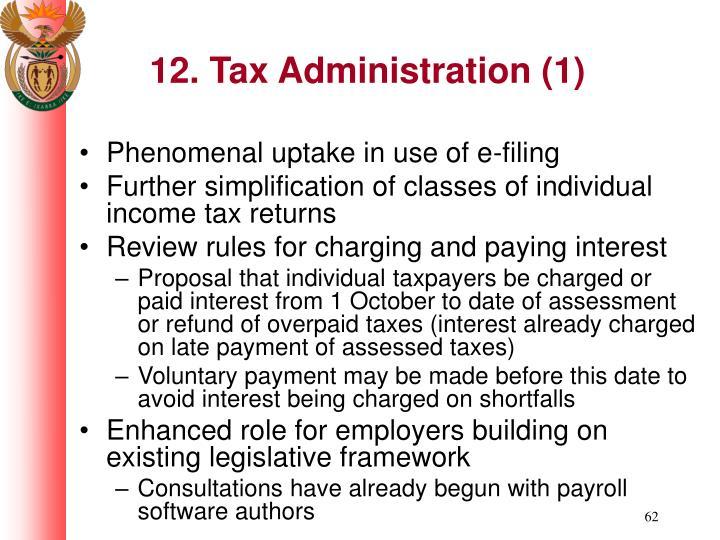 12. Tax Administration (1)