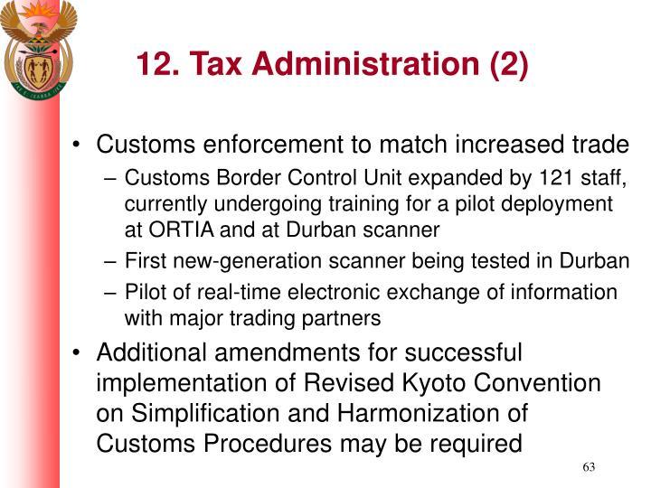 12. Tax Administration (2)