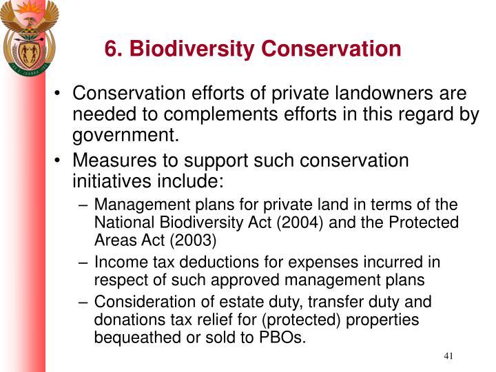 6. Biodiversity Conservation