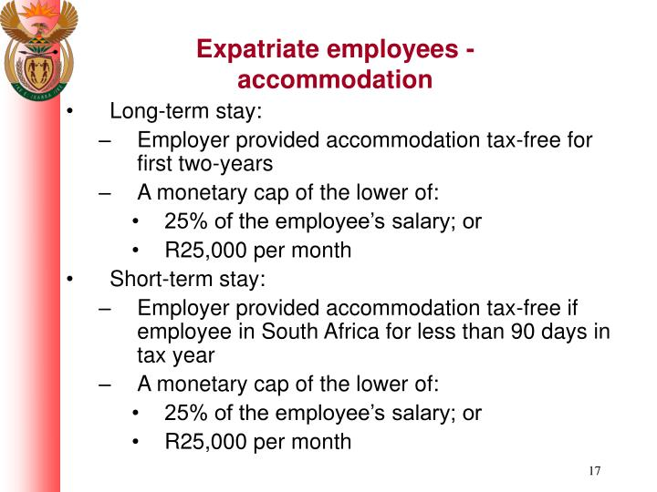 Expatriate employees - accommodation