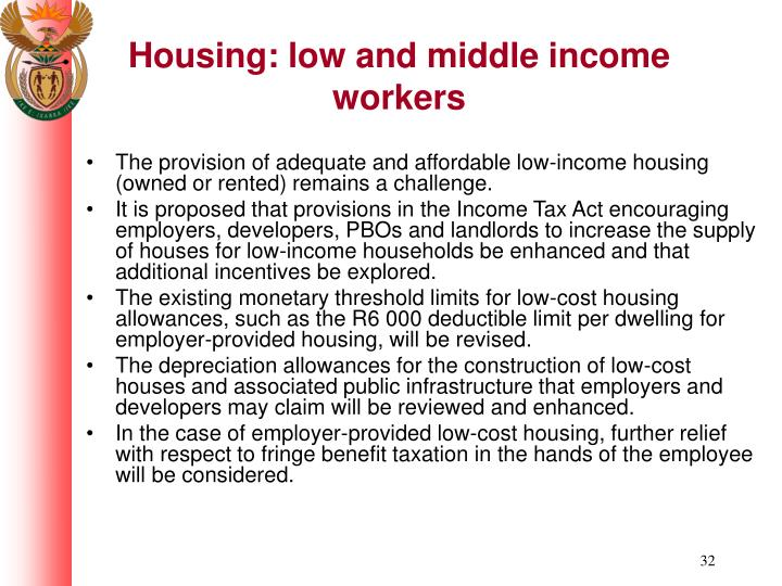 Housing: low and middle income workers