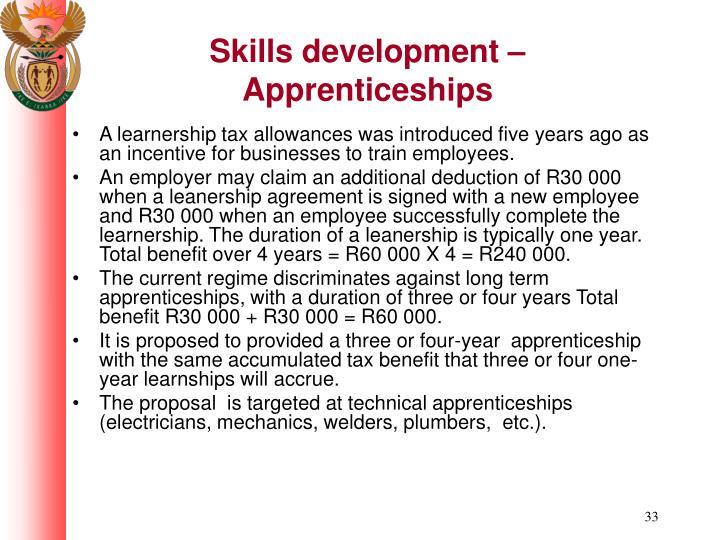 Skills development – Apprenticeships