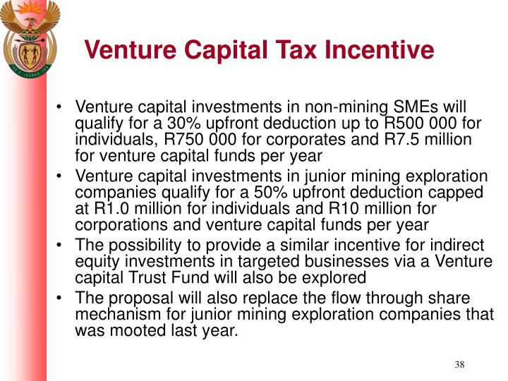 Venture Capital Tax Incentive