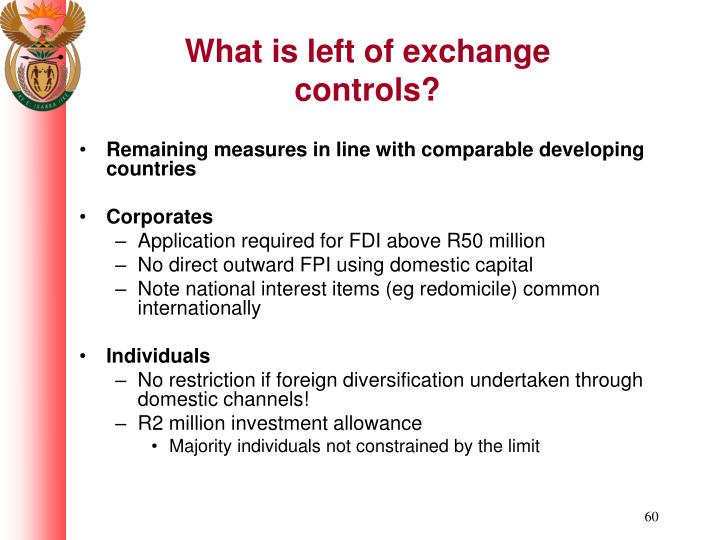 What is left of exchange controls?