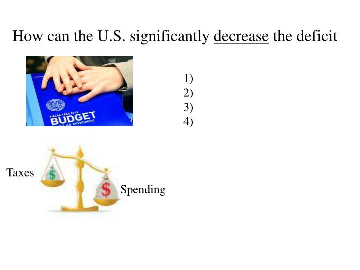 How can the U.S. significantly