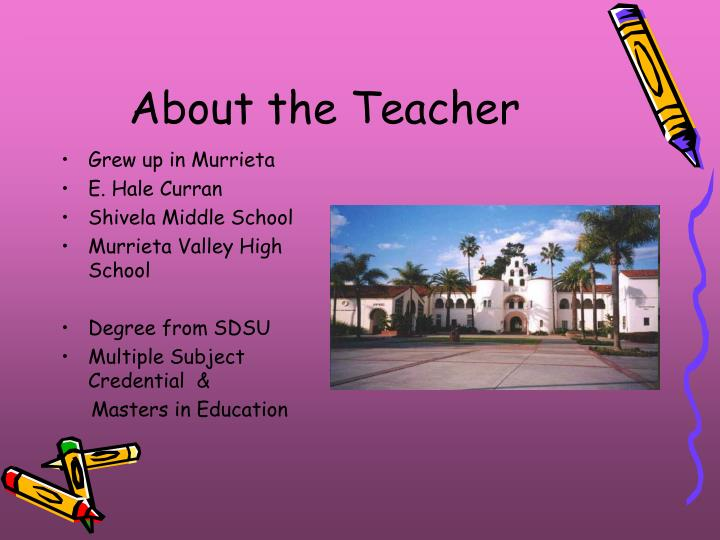 About the teacher