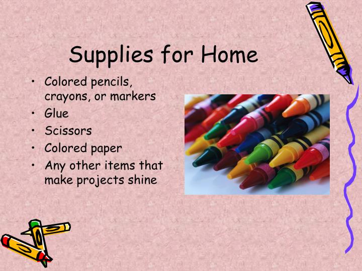 Supplies for Home