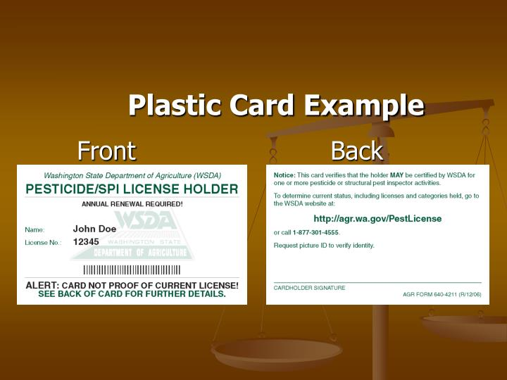 Plastic Card Example