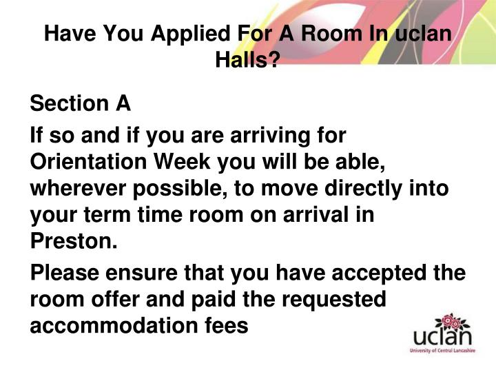 Have You Applied For A Room In uclan Halls?