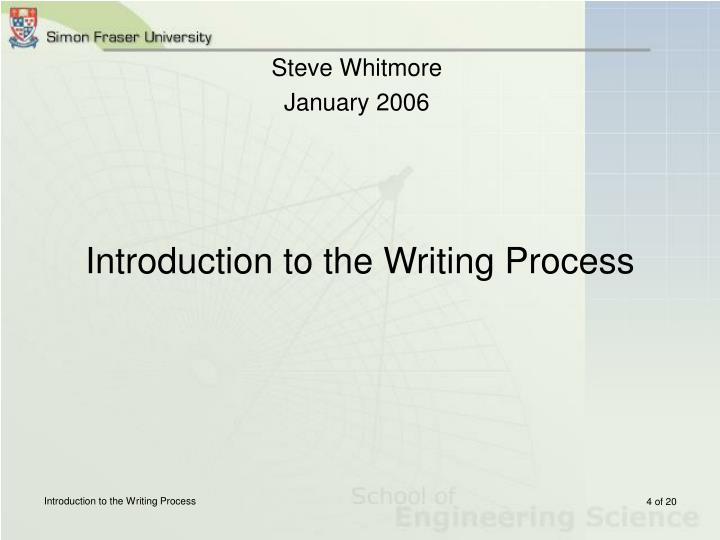 Introduction to the Writing Process