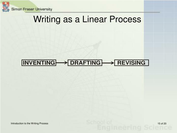 Writing as a Linear Process