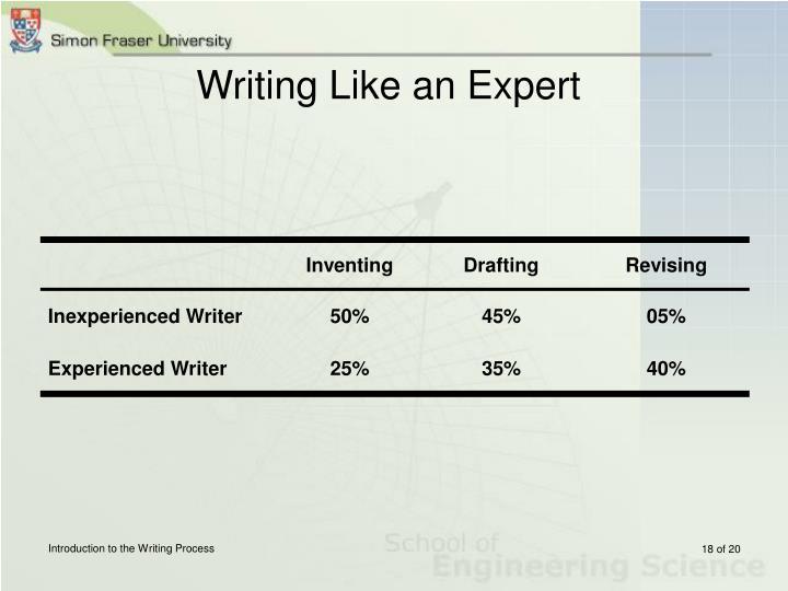 Writing Like an Expert