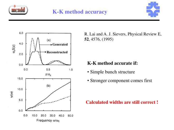 K-K method accuracy