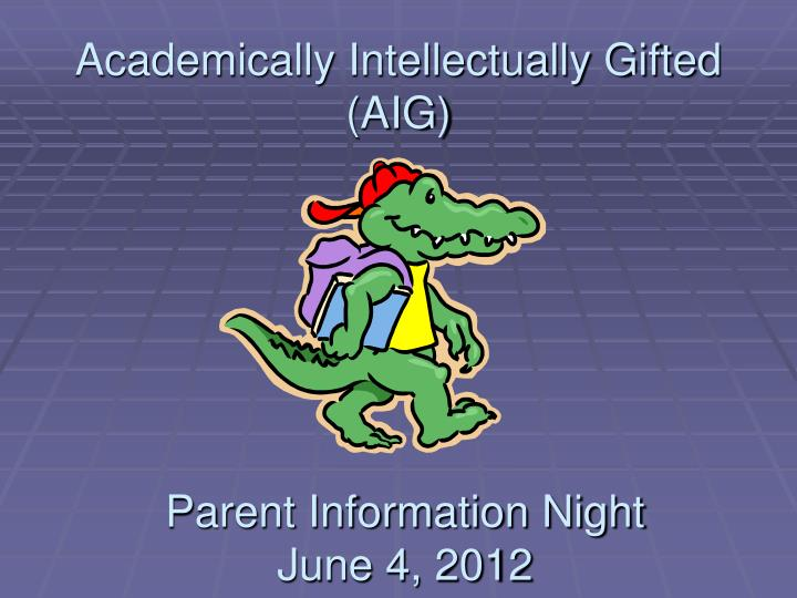 academically intellectually gifted aig n.