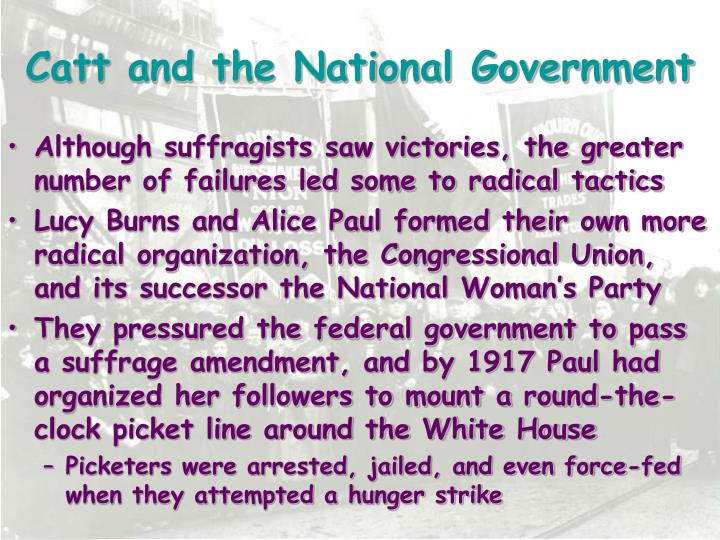 Catt and the National Government