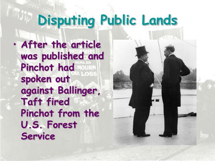 Disputing Public Lands