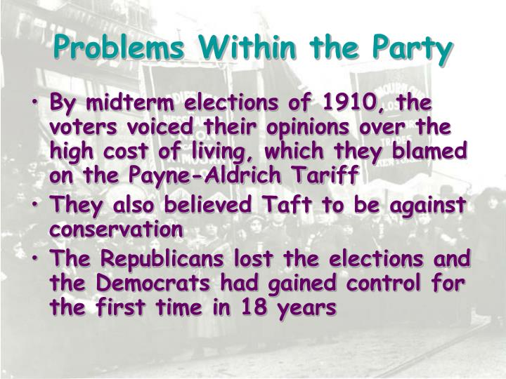 Problems Within the Party