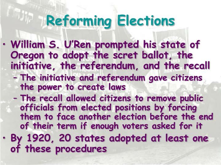 Reforming Elections